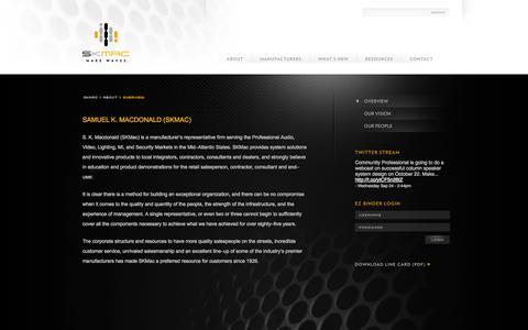 Screenshot of About Page skmac.com - Overview | Skmac - captured Sept. 29, 2014