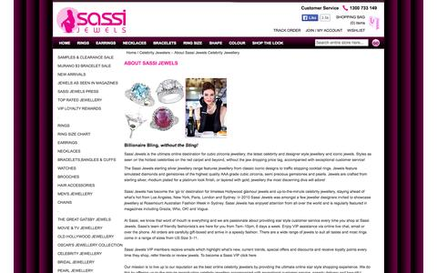 Screenshot of About Page sassijewels.com.au - Celebrity Jewelers – About Sassi Jewels Celebrity Jewellery  | Sassi Jewels - captured Sept. 30, 2014