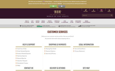 Screenshot of Support Page thewhiskyexchange.com - The Whisky Exchange : Online Whisky Shop - Buy Single Malt Scotch Whisky, Whiskies of the World, Rare Whisky : The Whisky Exchange - captured Sept. 22, 2018