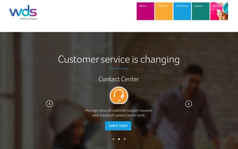 Screenshot of Products Page wds.co - Customer service is changing - captured Aug. 13, 2015