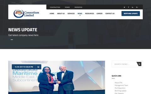 Screenshot of Press Page enlconsortium.com - News and Update  – ENL Consortium Limited - captured Sept. 26, 2018