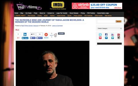 Screenshot of Blog realtvfilms.com - Filmmaker Interviews * Filmmaker Interviews from popular Film Festivals * Filmmaker Video Blog - captured Feb. 23, 2016