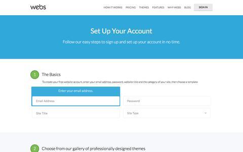New Website with Webs: Free Website Sign Up   Webs