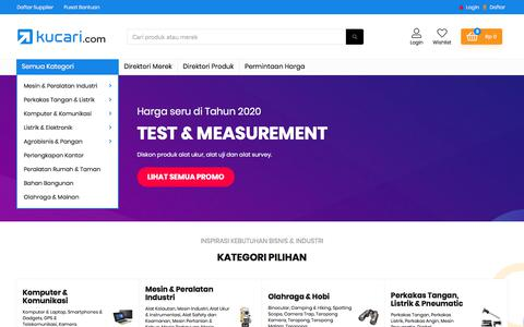 Screenshot of Home Page kucari.com - B2B Marketplace: Pusat Distributor, Agen, Dealer & Reseller Harga Grosir - captured Feb. 10, 2020