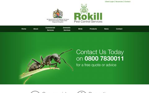 Screenshot of Home Page rokill.co.uk - Rokill Pest Control | Contact us on 0800 7830011 - captured Dec. 1, 2016