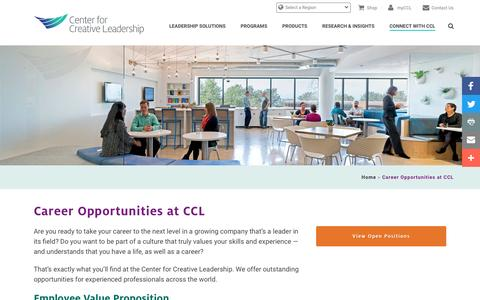 Career Opportunities at CCL - Center for Creative Leadership
