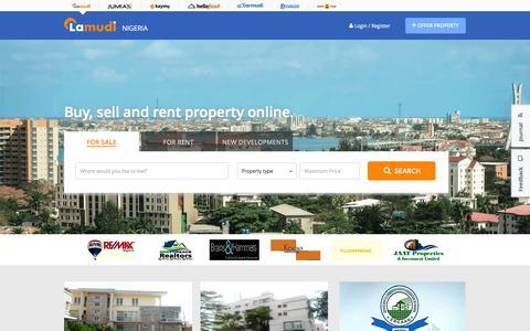 Screenshot of Home Page lamudi.com.ng - Buy, Sell, and Rent Property Online in Nigeria | Lamudi - captured Jan. 20, 2016