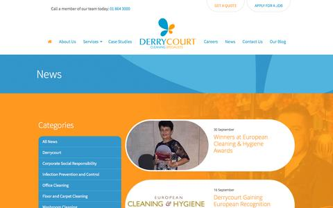 Screenshot of Press Page derrycourt.ie - News - captured Nov. 24, 2016