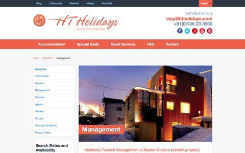 Screenshot of Team Page htholidays.com - Management | About Us | HT Holidays - captured Sept. 24, 2014