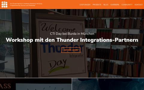 Screenshot of Blog comm-press.de - Blog - comm-press GmbH - captured Sept. 25, 2018