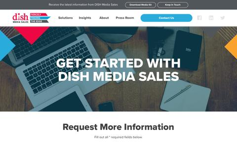 Screenshot of Contact Page dishmediasales.com - Contact Us | Get Started With DISH Media Sales - captured May 4, 2017
