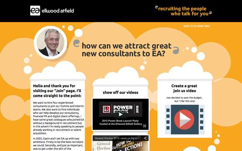 Screenshot of Signup Page ellwoodatfield.com - Ellwood Atfield |   Join Us - captured Dec. 9, 2015