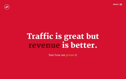 Screenshot of Home Page 38studios.com - Miami SEO: Traffic is great but revenue is better - captured June 20, 2015