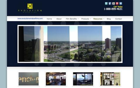 Screenshot of Case Studies Page evolutionwindowfilms.com - Case Studies - Evolution Window Films - Ontario, Canada www.evolutionwindowfilms.com - captured Sept. 30, 2014