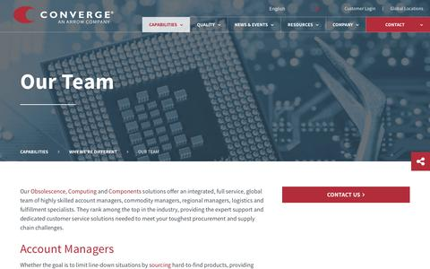 Screenshot of Team Page converge.com - Our Team | Converge People - captured May 21, 2017