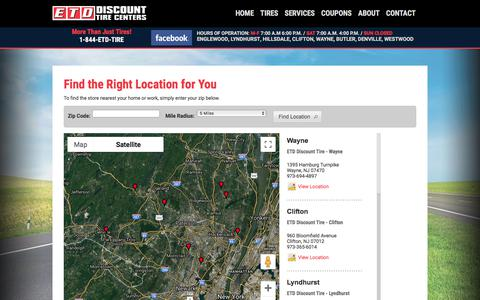 Screenshot of Maps & Directions Page etddiscounttire.com - ETD Discount Tire Centers - My Installers - captured Sept. 26, 2018