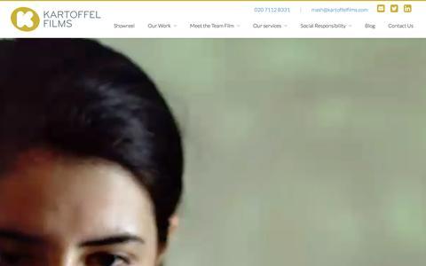 Screenshot of Home Page kartoffelfilms.com - Video Production Company | Kartoffel Films - London - captured Jan. 9, 2016