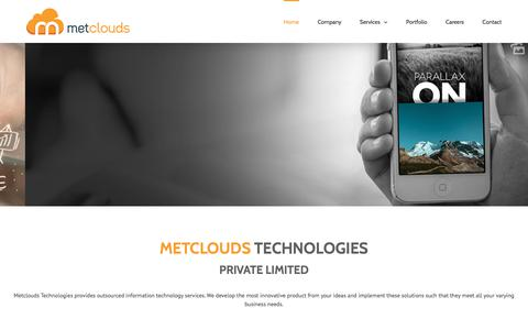 Screenshot of Home Page metclouds.com - Outsourced Information Technology Consulting Services - captured Oct. 18, 2017