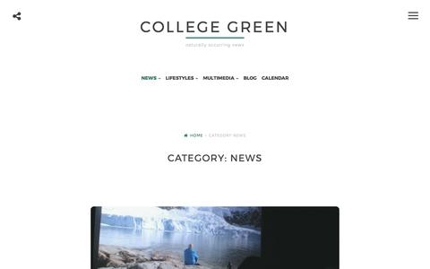 Screenshot of Press Page collegegreenmag.com - News – college green - captured Aug. 16, 2017
