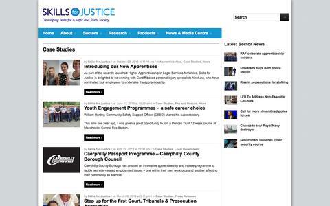 Screenshot of Case Studies Page sfjuk.com - Case Studies — Skills for Justice - captured Oct. 4, 2014