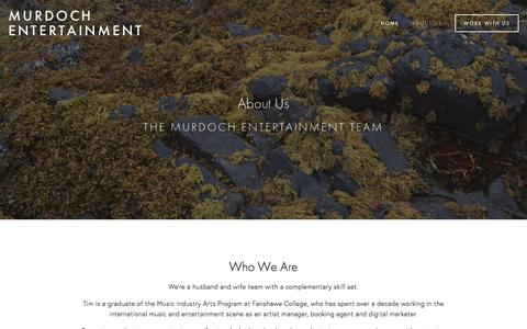 Screenshot of About Page murdochentertainment.com - About Us — Murdoch Entertainment - captured June 7, 2018