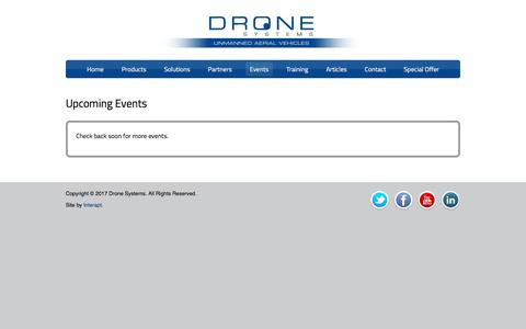 Upcoming Events | Drone Systems