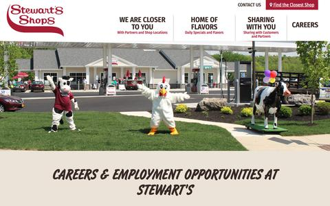 Screenshot of Jobs Page stewartsshops.com - Employment & Careers at Stewart's Shops | Based in Saratoga Springs NY - captured Nov. 16, 2018