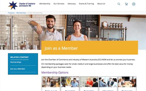 Screenshot of Signup Page cciwa.com - Join As A Member | Chamber of Commerce and Industry (CCIWA) - captured June 24, 2017