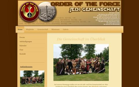 Screenshot of Home Page order-of-the-force.de - Order of the Force - Home - captured March 12, 2016