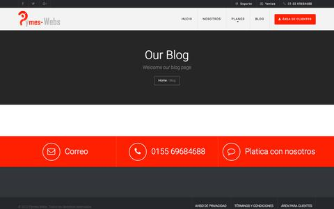 Screenshot of Blog pymeswebs.com.mx - Blog | Pymes Webs - captured July 22, 2018