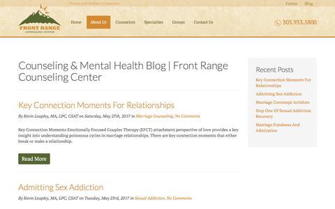 Screenshot of Blog frontrangecounselingcenter.com - Counseling & Mental Health Blog   Front Range Counseling Center        Front Range Counseling Center - captured June 6, 2017