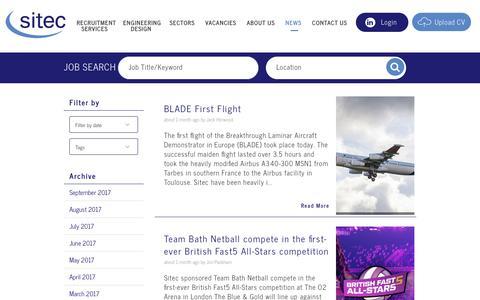 Screenshot of Blog Press Page sitecgroup.com - Blog - Sitec - captured Nov. 6, 2017