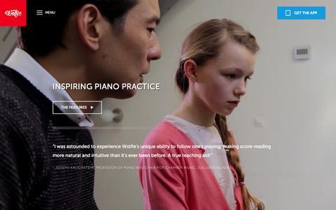 Screenshot of Maps & Directions Page tonara.com - Wolfie for piano app - Tonara and Wolfie for Piano - captured Jan. 14, 2016