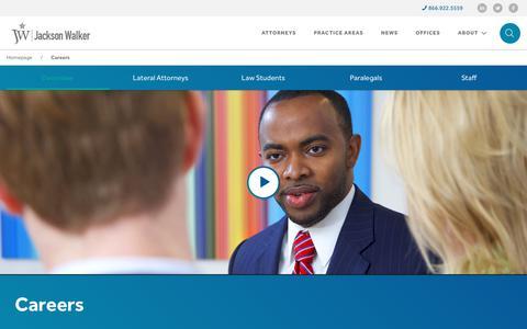 Screenshot of Jobs Page jw.com - Careers - Jackson Walker - captured July 7, 2017