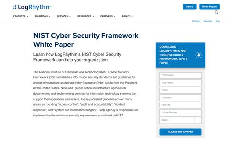 NIST Cyber Security Framework Whitepaper | LogRhythm