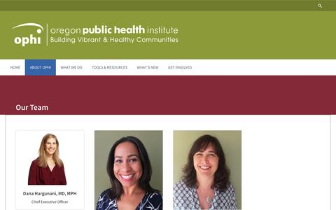 Screenshot of Team Page ophi.org - Our Team – OPHI - captured Dec. 6, 2016