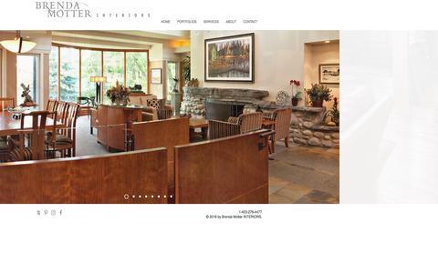 Screenshot of Home Page brendamotter.com - Interior Design Services | Calgary, Alberta - Brenda Motter Interiors - captured Nov. 23, 2016