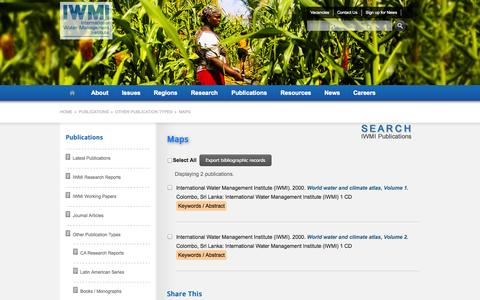 Screenshot of Maps & Directions Page cgiar.org - Maps :: IWMI - captured Sept. 19, 2014