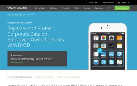 Bring Your Own Device (BYOD) |  AirWatch