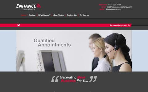 Screenshot of Home Page enhanceconsultancy.com - Homepage | Enhance Consultancy - captured June 18, 2015