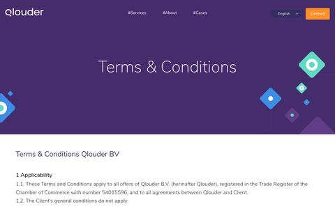 Screenshot of Terms Page qlouder.com - Terms & Conditions -      Qlouder - captured Dec. 4, 2017