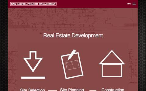 Screenshot of Home Page sgmanage.com - San Gabriel Project Management  | Construction Management and Real Estate Development - captured Oct. 4, 2014