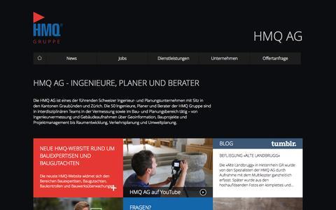 Screenshot of Home Page hmq.ch - HMQ AG - captured Oct. 1, 2014