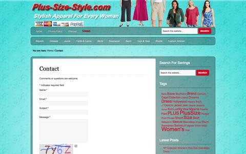 Screenshot of Contact Page plus-size-style.com - Contact | Plus-Size-Style - captured Oct. 31, 2014