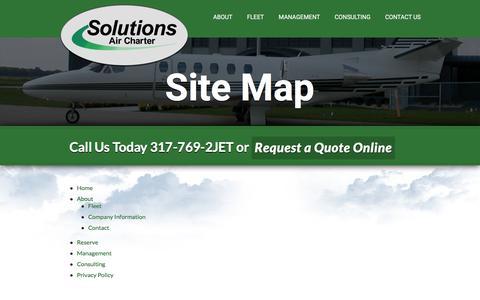 Screenshot of Site Map Page solutionsair.com - Site Map - Solutions Air : Solutions Air - captured Oct. 22, 2017