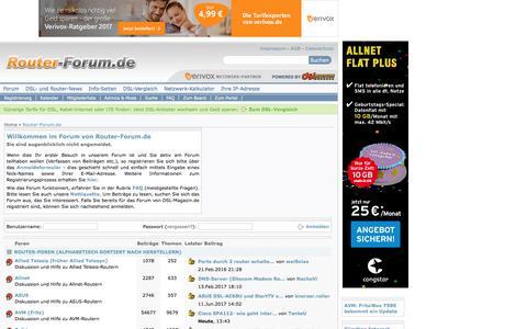 Screenshot of Home Page router-forum.de - Router-Forum.de - Fragen, Antworten, Probleme und Lösungen rund um Router - captured June 22, 2017
