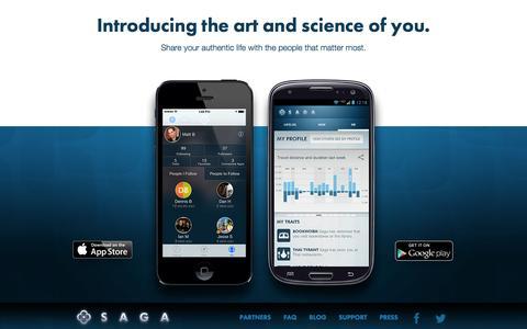 Screenshot of Home Page getsaga.com - SAGA :: Choose your own adventure - captured Sept. 19, 2014
