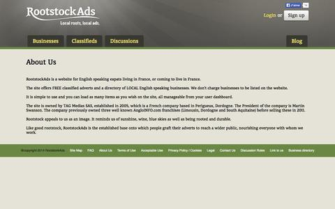 Screenshot of About Page rootstockads.com - About us -  RootstockAds - captured Sept. 24, 2014