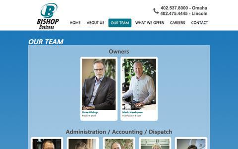 Screenshot of Team Page bbec.com - Our Team | Bishop Business Equipment - captured Oct. 10, 2017