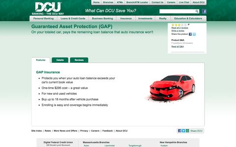GAP Insurance for Auto Loans | DCU | Massachusetts | New Hampshire
